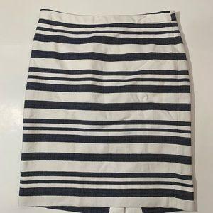 J. Crew chevron striped pencil skirt